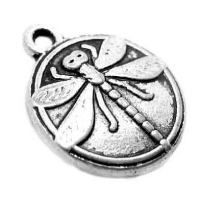Antique Silver Dragonfly Charms at BaublesOfFun.com