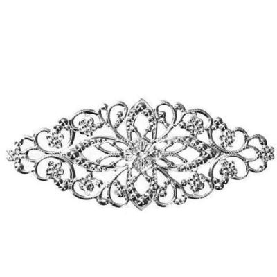 Antique Silver Filigree Connectors | Platinum Stampings - Embellishments