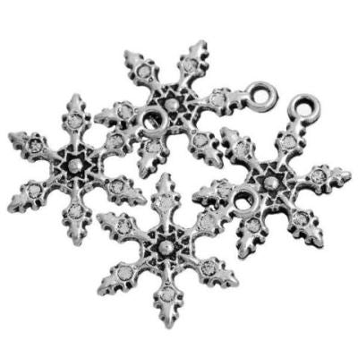 Antique Silver Snowflake Charms at BaublesOfFun.com
