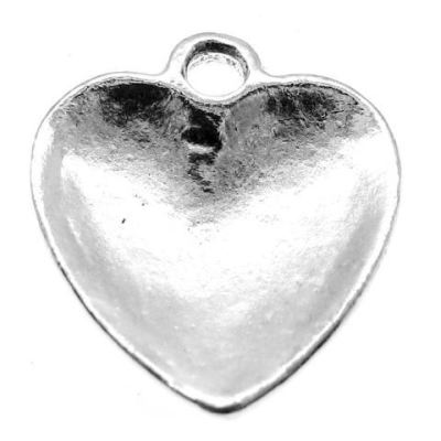 Antique Silver Stamped Together We Can Make A Difference Heart With Awareness Ribbon Charm - Charms