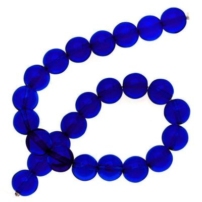 12-Inch Full Strand Dark Sapphire Crystal Beads at BaublesOfFun.com