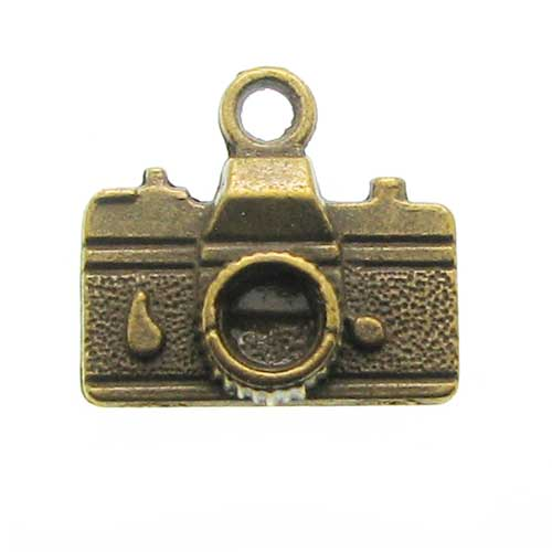 Antique Brass Camera Charms at BaublesOfFun.com