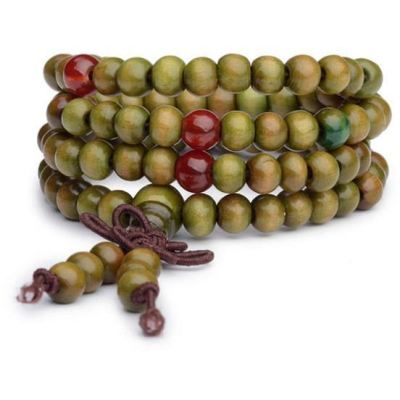 Buddhist Prayer Beads Or Malas / Buddha Meditation Bracelet [8Mm Green] - Arm Candy