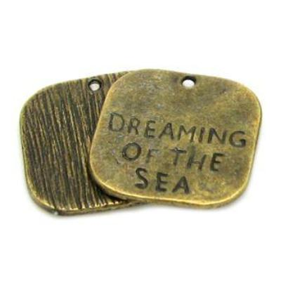 Antique Brass Dreaming of the Sea Beach Charms at BaublesOfFun.com