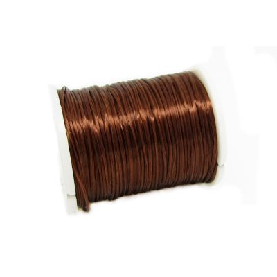 Chocolate Brown .6Mm Nylon Elastic Cord On Plastic Spool | Thread | Beading | Stretch | Bracelet String