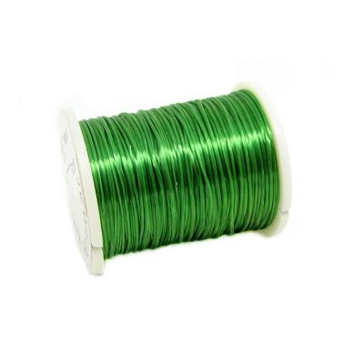 Emerald Green .6Mm Nylon Elastic Thread On Plastic Spool | Cord | Beading | Stretch | Bracelet String
