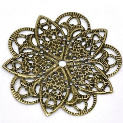 Filigree Metal Jewelry Stampings Antique Bronze Embellishments