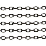 Gunmetal Cable Chain / Black Oval Link 5.5 X 9 1.2Mm