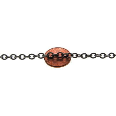 Gunmetal Cable Chain / Oval Link 5 X 4 1Mm