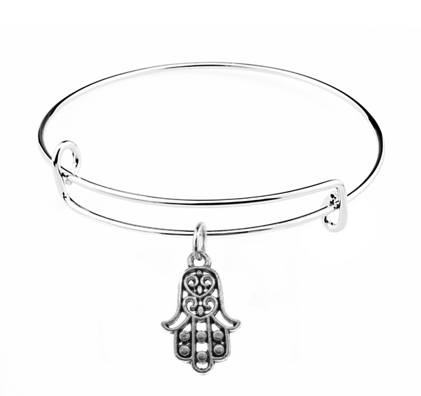 Hamsa Charm on Bangle Bracelet at Baubles Of Fun