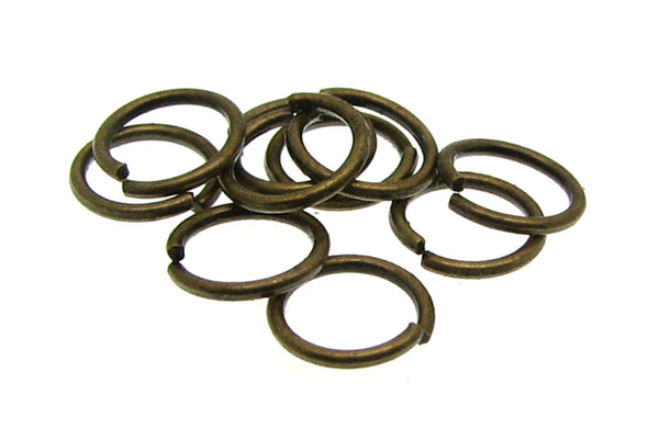 8mm Jump Rings : 100 Antique Bronze Open Jump Rings 8mm x .9mm (19 Gauge) -- Lead, Nickel, & Cadmium free Jewelry Finding 8/.9 -1