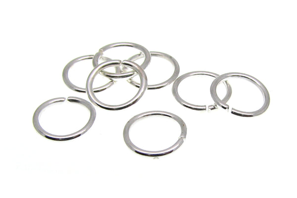 7mm Silver Plated Open Jump Rings 7 x .7mm (21 gauge) [100 pieces] --  Lead & Nickel free Jewelry Findings 7/.7-S
