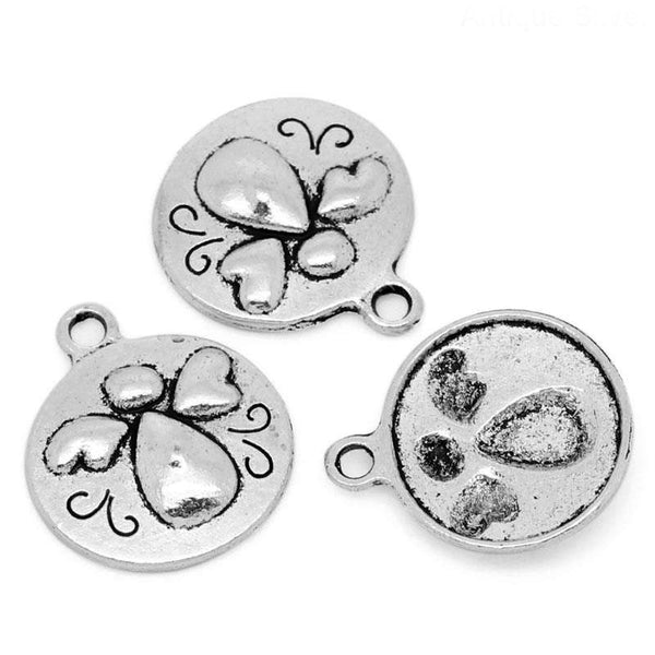 Antique Silver Angel Charms [10 pieces] -- Lead, Nickel & Cadmium Free 28526.J4F