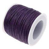 Waxed Cotton Cord : Dark Viola Purple 1mm Waxed Cord String / Bracelet Cord / Macrame Cord [30 feet] 196