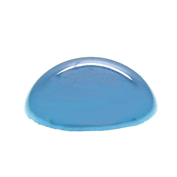 Cabochons : 10 pieces Blue Pearlized Handmade Porcelain 14mm Domed Cabochons -- 14/37.G1