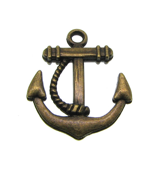 Antique Bronze Anchor Charms / Brass Ox Nautical Charms [10 pieces] ... Lead, Nickel & Cadmium Free J2K