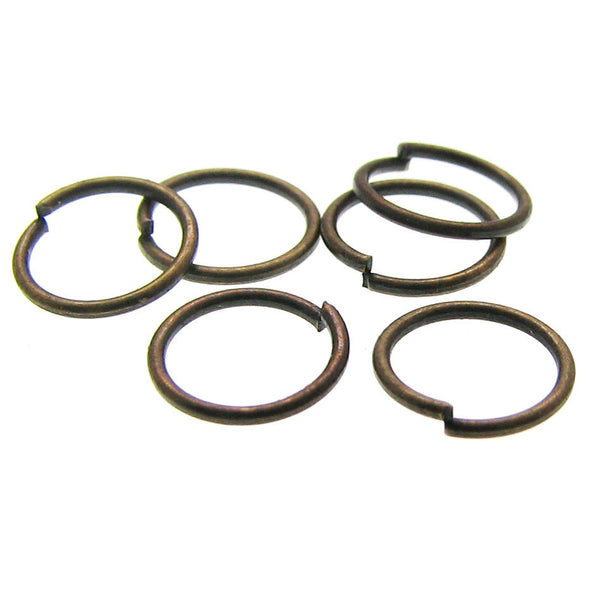 7mm Jump Rings : 100 Bronze Open Jump Rings 7mm x .7mm (21 Gauge) / 7mm Antique Brass Jump Rings -- Lead, Nickel, & Cadmium free 7/.7-1