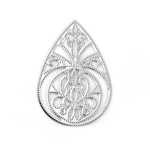 Silver Filigree Chandelier Stampings / Filligree Embellishments -- F113754