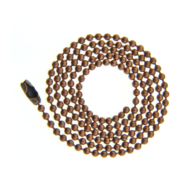 2.4mm Antiqued Copper BALL CHAIN Necklace with Clasp [ 18 inch, 20 inch, 22 inch, 24 inch ] -- Lead & Nickel Free