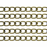 Antique Bronze Twist Oval Chain / Brass Ox Curb Chain 6 x 9 x 1.2mm [SOLD per 10 FEET] -- Lead, Nickel & Cadmium Free 318067