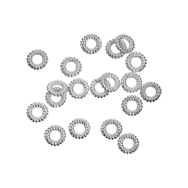 Closed Soldered Braided Antique Silver 5mm Jump Rings Findings [100 pieces] -- Lead, Nickel, & Cadmium free 85794.K4B