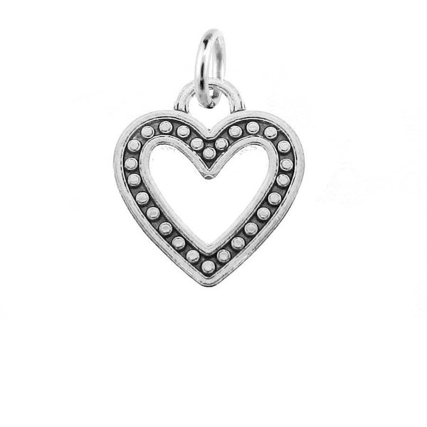 Add-A-Charm Antique Silver Heart Charm with Jump Ring [1 piece] -- Great for Necklace or Bracelet -- Lead, Nickel & Cadmium Free  52905.N