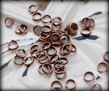 100 pieces 5mm Antique Copper Double Loop Split Rings  -- Lead, Nickel, & Cadmium free Jewelry Findings 5x1mm-5