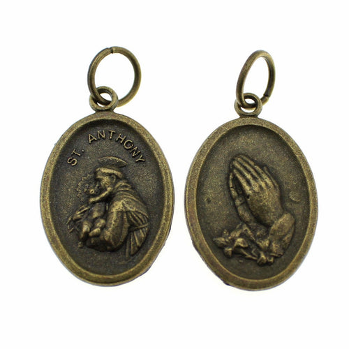 Add-A-Charm Antique Bronze St. Anthony Charm / Religious Medal [1 piece] -- Lead, Nickel & Cadmium Free 70823.H3F