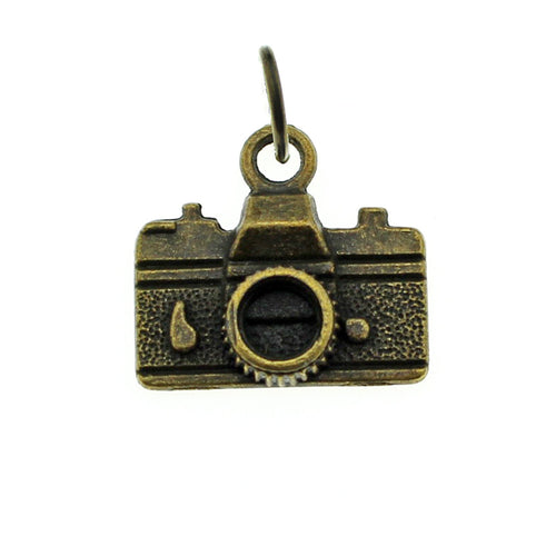Add-A-Charm Antique Bronze Camera Charm with Jump Ring