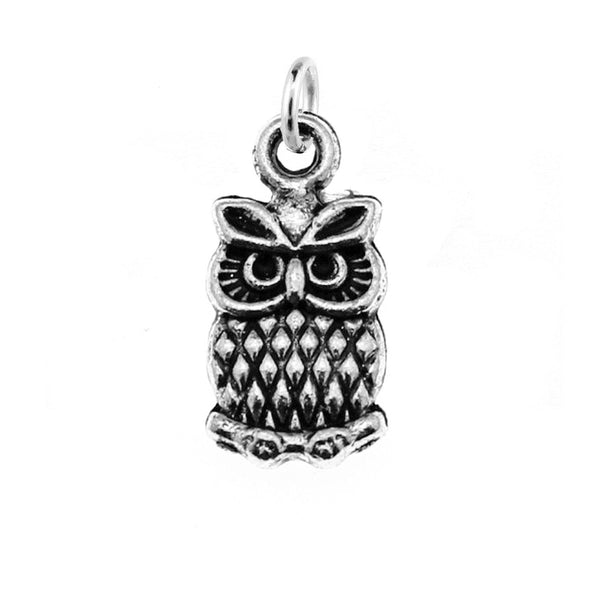 Add-A-Charm Antique Silver Small Owl Charm with Jump Ring [1 piece] -- Lead, Nickel & Cadmium free 95516.N