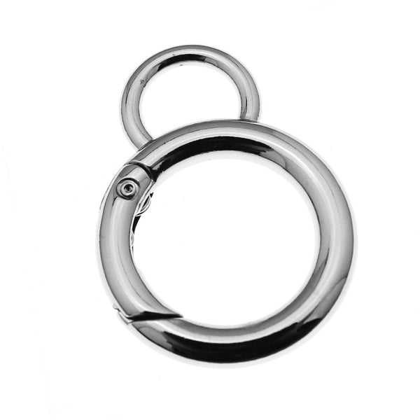 Extra Large Silver Bolt Spring Ring Clasp (42mm x 30mm) [2 pieces] -- Lead & Nickel Free Jewelry Finding 105314.J4I