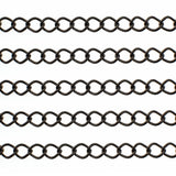 Gunmetal Curb Chain / Twist Oval Chain 9mm x 7.5mm x 1mm [SOLD PER 10 FEET] -- Lead, Nickel & Cadmium Free 100609