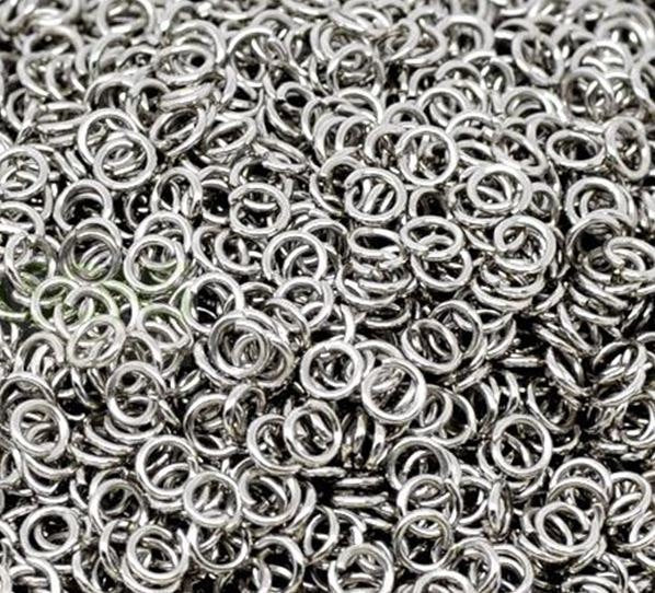 Antique Silver Open Jump Rings 4mm x .7mm (21 Gauge) [100 pieces] -- Lead, Nickel, & Cadmium free Jewelry Finding 4x.7-1