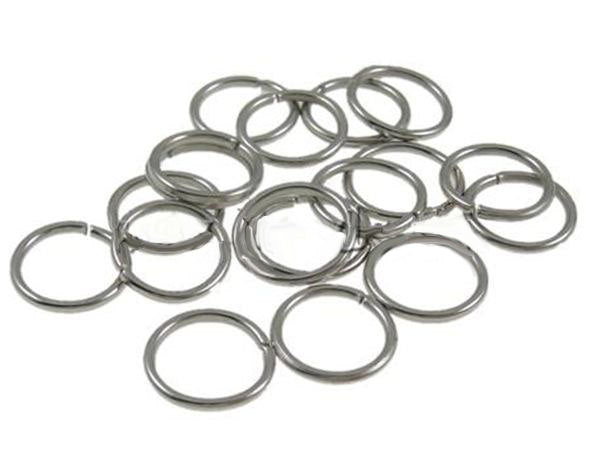 9mm Jump Rings : 100 Antique Silver Open Jump Rings Findings 9mm x .9mm (19 gauge) -- Lead, Nickel, & Cadmium free Jewelry Finding 9/.9
