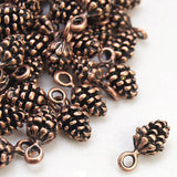 Antique Copper Pine Cone Charms / Copper Ox Pinecone Pendants [10 pieces] -- Lead & Nickel Free Jewelry Findings 10909.H6C