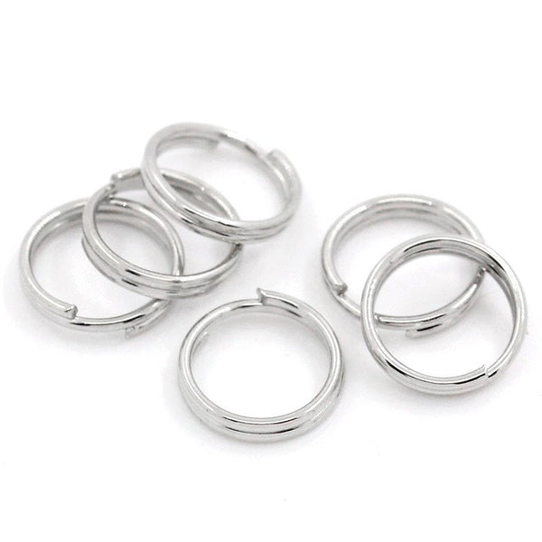 Antique Silver 7mm SPLIT RINGS , Double Loop [100 pieces] -- Lead, Nickel, & Cadmium free Jewelry Findings 7/1.2P