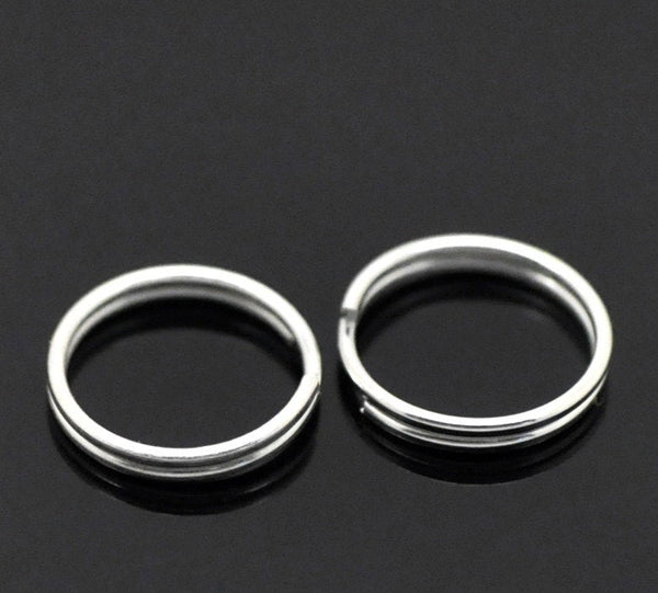 7mm Split Rings : 100 Bright Silver Plated 7mm Double Loop Split Rings ... 7mm x 1.2mm -- Lead, Nickel, & Cadmium free  7/1.2S
