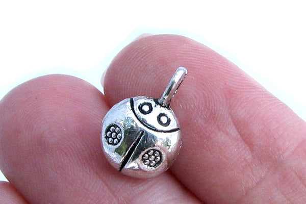 Add-A-Charm Antique Silver Lucky Ladybug Charm (3D) with Jump Ring [1 piece] -- Perfect for Necklace or Bracelet   10001.R