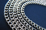 Silver Chain : 16 feet (5 meters) Antique Silver Curb Chain | Silver Twisted Curb Chain 4.5mm x 3mm -- Lead, Nickel & Cadmium Free 73122.2