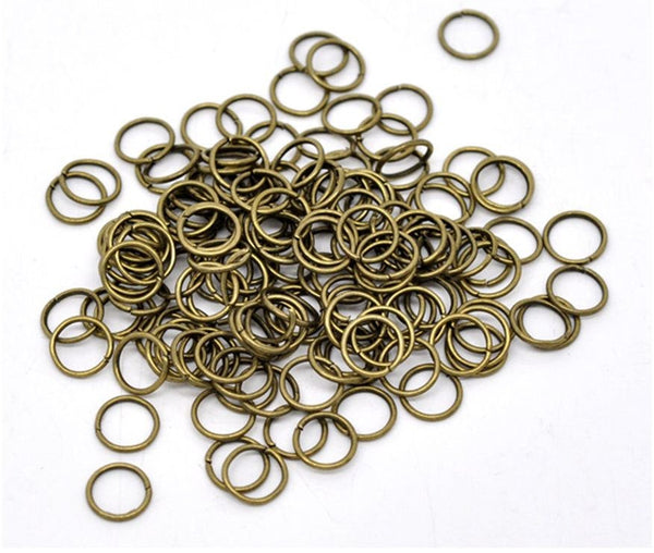 100 pieces Antique Bronze Open Jump Rings 6mm x .9mm (19 Gauge) / 6mm Brass Ox Jump Ring Jewelry Findings  -- Lead, Nickel Free 6/.9