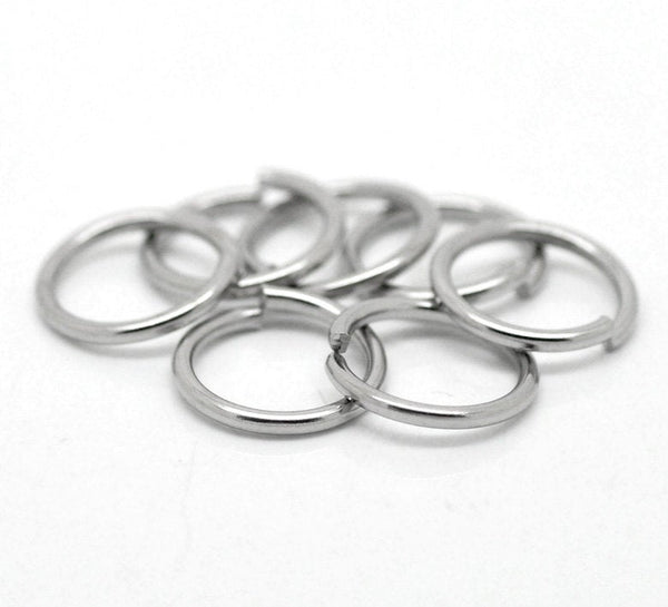 7mm Jump Rings : 100 Antique Silver Jump Rings 7mm x 1.2mm Open Jump Rings 18 Gauge -- Lead, Nickel & Cadmium free 7/1.2P