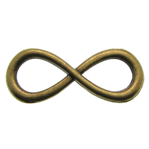 Antique Brass Infinity Connector / Bronze Infinity Bracelet Link