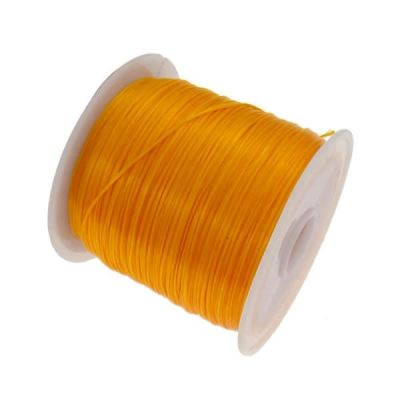 Orange .6Mm Nylon Elastic Thread On Plastic Spool | Cord | Beading | Stretch | Bracelet String