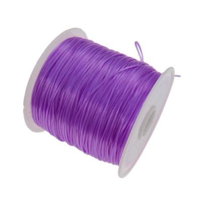 Purple .6Mm Nylon Elastic Thread / Stretch Cord / Bracelet String