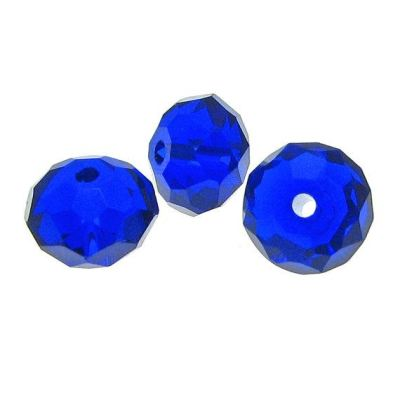 Sapphire Blue Crystal Faceted Rondelle Beads 8X6Mm
