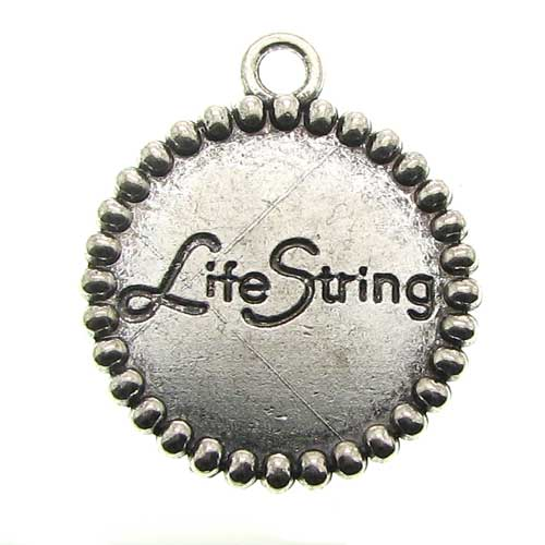 Antique Silver Life String Charms at BaublesOfFun.com