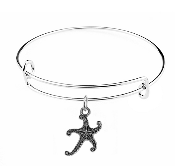Silver Starfish Charm on Bracelet at Baubles Of Fun