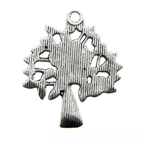 Antique Silver Tree of Life Charms Back Side at BaublesOfFun.com
