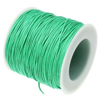 Waxed 1Mm Cotton Jewelry Cord -- Variety Of Colors - Aquamarine - Wax