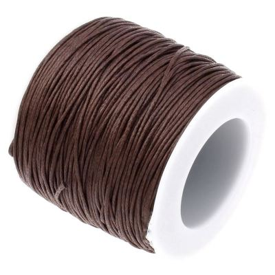 Waxed 1Mm Cotton Jewelry Cord -- Variety Of Colors - Brown - Wax
